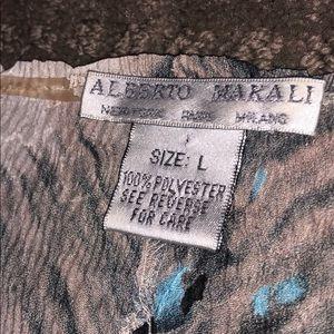 Alberto Makali Tops - Alberto Makali V- Neck Print Blouse L